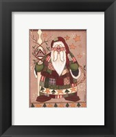 Framed Patchwork Santa