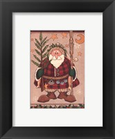Framed Woodland Santa