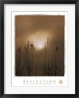 Framed Reflection-Beach Grass