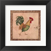 Framed Farmyard Bird I