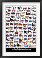 Framed 100 Cats and a Mouse