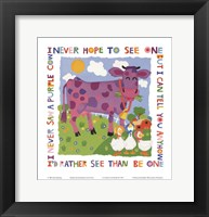 Framed Purple Cow