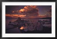 Framed Tufas in Mono Lake, California