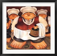Framed Three Chefs