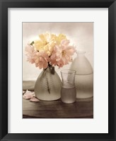 Framed Frosted Glass Vases III