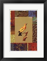 Framed Yellow Jungle Bird