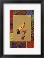Framed Yellow Jungle Bird