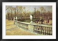 Framed Jardin du Luxembourg