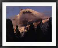 Framed Half Dome, Winter Sunset, Yosemite