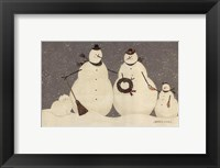 Framed Snow Family