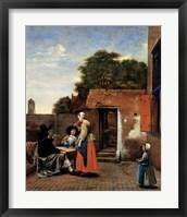 Framed Dutch Courtyard