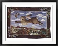 Framed Flying Hare