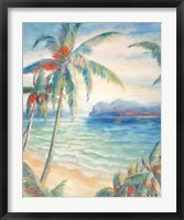 Tropical Breeze I - palm trees Framed Print