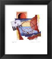 Hoop Shot Framed Print