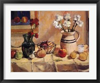 Framed Still Life with Vase and Pitcher