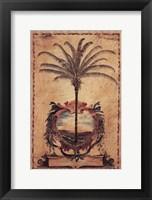 Sunset Palm Framed Print