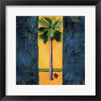 Neon Palm I Framed Print