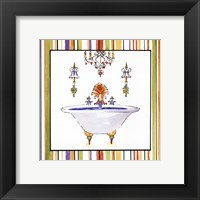 Striped Bath III Framed Print