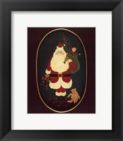 Santa with Toys Framed Print