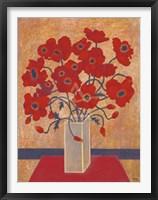 Framed Scarlet Poppies