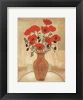 Framed Crimson Poppies