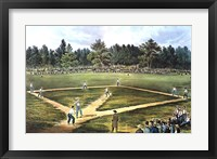 Framed National Game of Baseball