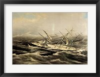 Framed Clipper Ship Comet