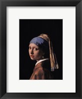 Framed Girl with a Pearl Earring, c.1665