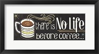 Funny Coffee II Framed Print