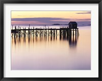 Framed Old Wharf at Dawn
