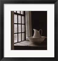 Framed Water Pitcher and Bowl