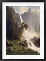 Framed Bridal Veil Falls, Yosemite