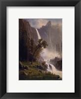 Framed Bridal Veil Falls, Yosemite, ca 1871-73
