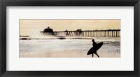 Framed Surfer at Huntington Beach