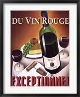 Du Vin Rouge Exceptionnel Framed Print