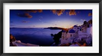 Framed Mykonos Sunset