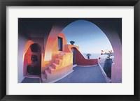 Framed Sunlit Steps (27-1/2 x 19-1/2)