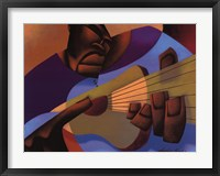 Fingerstyle Freddy Framed Print