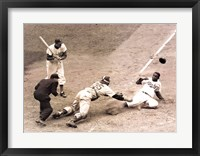 Framed Jackie Robinson Stealing Home, May 15, 1952