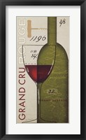 Grand Cru Rouge Framed Print