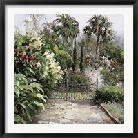 Framed Palm Garden