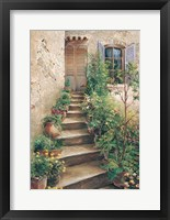 Stairway in Provence Framed Print