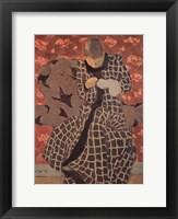 Framed Woman Darning