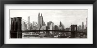 Framed Brooklyn Bridge - panorama