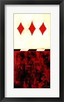 Three of Diamonds Framed Print