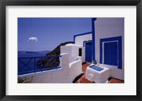 Framed Blue Shutters with Cloud