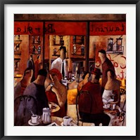 Cafe New York Framed Print