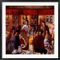 Cafe New York Framed Print
