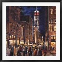 New York Night Framed Print