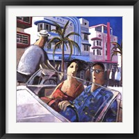 Cruising in Miami Framed Print